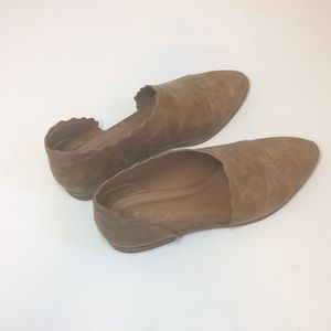 Qupid cut out slip on flat tan booties size 7